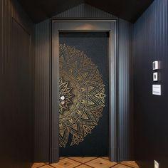 Modern Entrance Door, Main Entrance Door Design, Wooden Main Door Design, Front Door Design, Door Design Interior, Home Room Design, Modern Interior, Single Door Design, Le Riad