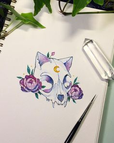 Another skull drawing🌸 Skull Tattoo Flowers, Flower Skull, Flower Tattoos, Kunst Tattoos, Body Art Tattoos, Cute Drawings, Tattoo Drawings, Skull Drawings, Evvi Art
