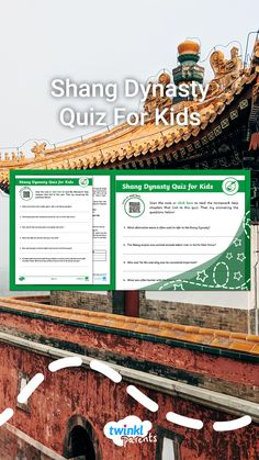 Looking for ways to help your child with their homework? Ask your child to read through our Shang Dynasty Homework Help guide (accessed via the Twinkl Parents homepage). Next encourage them to take our fun quiz to see what they've learnt. Follow the link to download this quiz today!