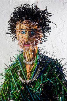 Esculturas de lápis de Federico Uribe