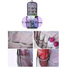 Waterproof Multifunction Travel Wash Cosmetic Bag Makeup Hanging Case Storage Bag