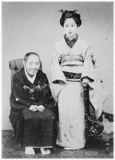 ●鏡子 田安徳川達孝伯爵の前妻 祖母と(徳川吉子・慶喜の母) Masako Tanashi Tokushika Takashi Earl's former wife grandmother and (Tokumika Yoshiko · mother of Keikyu)