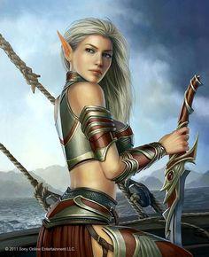 Sexy Female Elf Warriors   ... so damn hot inea elf girl by maxarkes a beautiful elf portrait elf