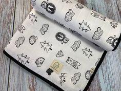 Animal Print Swaddle Blanket, Double Layer Muslin, Reversible Blanket, Cotton Blanket, Black Binding Wrap, Gauze Muslin, Lion Bear Blanket Muslin Blankets, Muslin Swaddle Blanket, Receiving Blankets, Bear Blanket, Breastfeeding Cover, Stroller Cover, Baby Lovey, Muslin Fabric, Newborn Baby Gifts