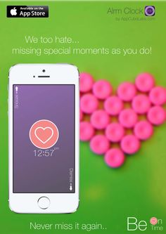 Lovely Heart Label only in the new Alrm Clock now available on App Store.  Download: http://bit.ly/1u3MDws