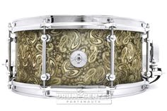 Dunnett Classic Steel Snare Drum 14x6.5 James Trussart Paisley