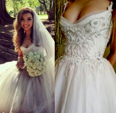 The lovely Chantal wearing a custom made Paolo Sebastian gown to her wedding last weekend