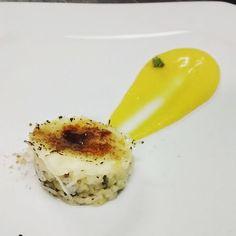 Reprodução da sobremesa da Bel Coelho - Tartar de abacaxi com tapioca brulée e baba de moça!!! #missaodadaémissaocumprida #instafood #dessert #sobremesa #patisserie #confeiteira #tapioca #brulee #babademoça #abacaxi #manjericao
