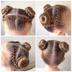 It's our day off today so we had a little time to style. This one is so very cute! I'm off to a special lunch today. Baby Girl Hairstyles, Work Hairstyles, Princess Hairstyles, Braided Hairstyles, Hairdos, Gymnastics Hair, Competition Hair, Natural Hair Styles, Long Hair Styles
