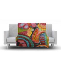 "East Urban Home Tropic Delight Fleece Throw Blanket Size: 90"" L x 90"" W"