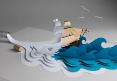 Fideli Sundqvist | Papercut Waves...