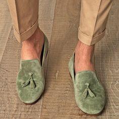 Suede Tassel Loafers by Alexander McQueen