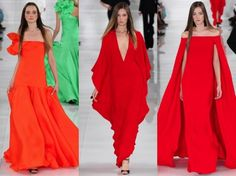 Lady in red by Ralph Lauren at NYFW!