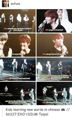 XD EXO wanting to know important words in foreign languages...