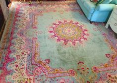 Persian rug - beautiful colors. Love this so much!