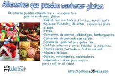 Alimentos con gluten...Que cuidados tener cuando se tiene un invitado #celiaco. De http://celiacos.35webs.com