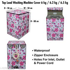 Appliance Covers Stylish Washing Machine Cover For Fully Automatic Top Load  6 kg , 6.2 kg , & 6.5 kg Material: PVC Pattern: Printed Pack: Pack of 1 Product Length: 24 cm Product Breadth: 30 cm Product Height: 3 cm Country of Origin: India Sizes Available: Free Size   Catalog Rating: ★4.3 (458)  Catalog Name: Latest Home Appliance Covers CatalogID_1097033 C131-SC1624 Code: 373-6872771-069