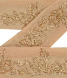 Trims Just Sanskriti Vintage Sari Border Craft Pink Trim Hand Embroidered Sewing Decor Lace Lustrous