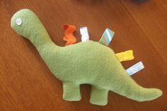 dino taggie tutorial with pattern