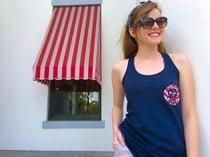 Be the best dressed girl on the 4th of July by wearing one of our patriotic racerback bow tanks!  #sgpsummeradventures  southerngirlprep.com