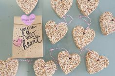 Preschool Valentine's | Homemade Bird Seed Feeders (via @Jen Lula-Richardson) www.jenloveskev.com