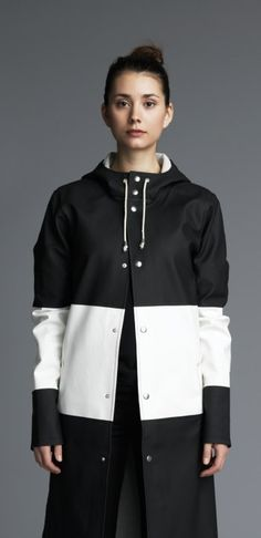 Stutterheim stockholm long...I love this coat and will do my best to have one.  This beauty wear this one well