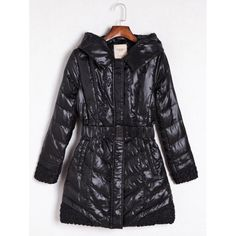 41.31$  Watch now - http://dicaq.justgood.pw/go.php?t=198938101 - Belted Hooded Quilted Coat 41.31$