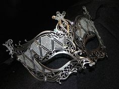 Silver and Rhinestone Metallic Masquerade by TheCraftyChemist07, $65.00