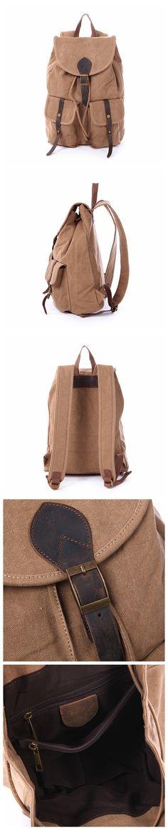 Large Volume Canvas Backpack, School Backpack, Track Backpack