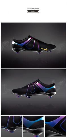 Nike Cleat Concept by Valentin DE quiet - probably some of the coolest cleats I've seen!
