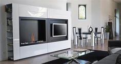 Wandhalterungen minimalistisch Wohnzimmer-Möbel weiß-schwarz