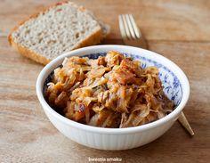 Bigos z kiszonej kapusty   Kwestia Smaku Polish Recipes, Polish Food, Easter Recipes, Xmas Recipes, Xmas Food, Mashed Potatoes, Macaroni And Cheese, Pork, Food And Drink