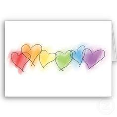 Shop Watercolor Rainbow Hearts Card created by rainbowthree. Easy Watercolor, Watercolor Cards, Tattoo Watercolor, Watercolor Animals, Watercolor Background, Watercolor Landscape, Abstract Watercolor, Watercolor Illustration, Watercolor Flowers