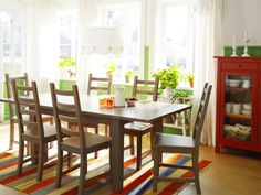 Colorful and fresh dining room.