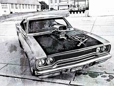 Muscle Car Sketches Auto Art Great Art Pinterest Car