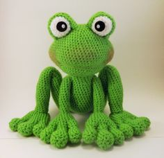 Froggy Amigurumi patroon kikker haken patroon door LisaJestesDesigns