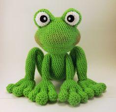 Froggy Amigurumi patroon kikker haken patroon door LisaJestesDesigns