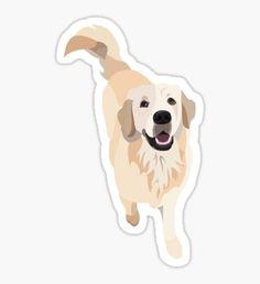 Golden Retriever Doggo Sticker