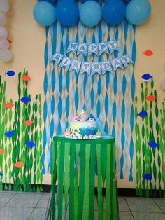 Under the sea babyshark birthday - für Kinder - Baby Baby Boy 1st Birthday Party, Baby 1st Birthday, Birthday Party Themes, Birthday Ideas, Mermaid Birthday, Underwater Birthday, Bubble Guppies Birthday, Baby Shark, Shark Party