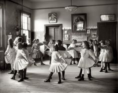 Yep everyone learnt how.../ Dance class in a Georgetown school 1919...youngsters learning social dance