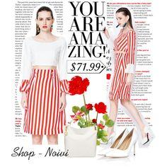 Vertical Stripe Falbala Two-piece Suit Dress
