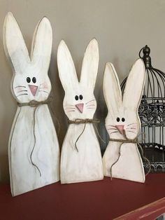 We always provide the ideas for your particular time home decoration which are not costly but valuable. Here are the best DIY spring wood crafts ideas for you. Bunny Crafts, Easter Crafts, Diy Crafts, Spring Crafts, Holiday Crafts, Diy Osterschmuck, Easy Diy, Rustic Wood Crafts, Wooden Decor