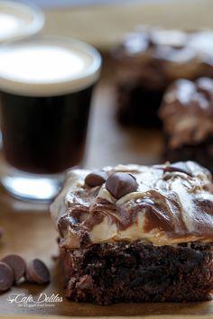 Cafe Delites | Espresso Fudge Brownies with Mocha Swirl Cookie Dough | http://cafedelites.com