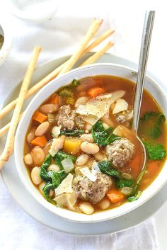 19 Mediterranean Diet Recipes You Can Make in Your Slow-Cooker - 19 Mediterranean Diet Slow-Cooker Recipes – PureWow - Fall Soup Recipes, Diet Soup Recipes, Slow Cooker Recipes, Crockpot Recipes, Cooking Recipes, Healthy Recipes, Dip Crockpot, Weekly Recipes, Healthy Soups