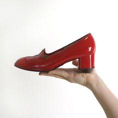 1960's Red Patent Leather Heels