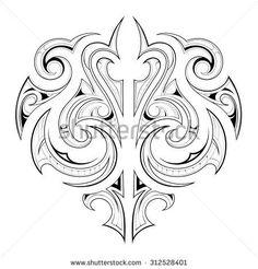 Maori tribal design Maori Patterns, Celtic Patterns, Maori Designs, Ethnic Tattoo, Tattoo Font For Men, Maori Symbols, Maori Art, Tattoo Maori, Leather Tooling Patterns