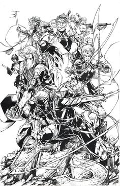 Wild Storm inked commission over the talented Brett Booth. Dc Heroes, Comic Book Heroes, Comic Books, Brett Booth, Image Hero, Image Comics, Comic Artist, Art Studios, Twitter
