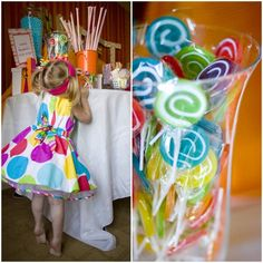 Annabelle's Candy Shoppe Party by SaraDest  The sweet shoppe theme is always popular and Sara did a beautiful job styling her daughter's sweet party!