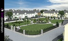 Residential Neighborhood - Architectural Rendering, Proposed Residential Neighborhood, Ireland