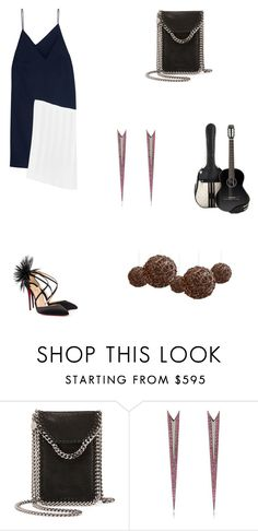 """""""Grace"""" by zoechengrace ❤ liked on Polyvore featuring STELLA McCARTNEY, Queen Vee Jewelry, Chanel and Christian Louboutin"""